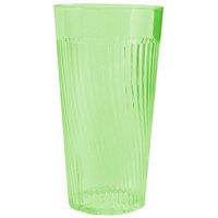 Belize 14 oz. Green Polycarbonate Plastic Tumbler - 12/Pack