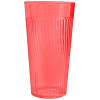 Belize 16 oz. Red Polycarbonate Plastic Tumbler - 12/Pack