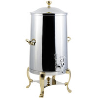 Bon Chef 40003-E Aurora 3 Gallon Stainless Steel Electric Coffee Chafer Urn with Brass Trim