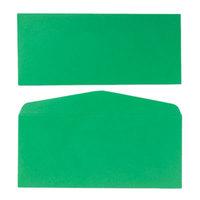Quality Park 11135 #10 4 1/8 inch x 9 1/2 inch Green Gummed Seal Business Envelope - 25/Pack