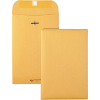 Quality Park 37855 #55 6 inch x 9 inch Brown Kraft Clasp / Gummed Seal File Envelope - 100/Box