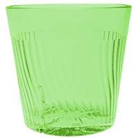 Belize 8 oz. Green Polycarbonate Plastic Tumbler - 12/Pack