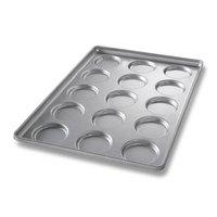 Chicago Metallic 41002 15 Mold Glazed Individual Hamburger Bun / Muffin Top / Cookie Pan