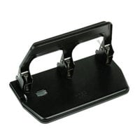 Master MP50 40 Sheet Black 3 Hole Punch with Gel Pad Handle - 9/32 inch Holes