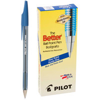 Pilot 36011 Better Blue Ink with Tinted Barrel 0.7mm Ball Point Stick Pen - 12/Pack