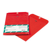 Quality Park 38734 #90 9 inch x 12 inch Red Clasp / Gummed Seal File Envelope - 10/Pack