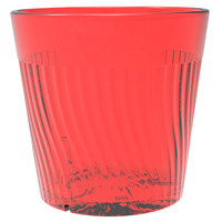 Belize 8 oz. Red Polycarbonate Plastic Tumbler - 12/Pack