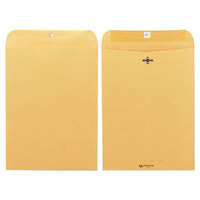 Quality Park 37890 #90 9 inch x 12 inch Brown Kraft Clasp / Gummed Seal File Envelope - 100/Box