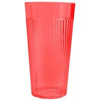 Belize 14 oz. Red Polycarbonate Plastic Tumbler - 12/Pack