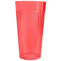 Belize 10 oz. Red Polycarbonate Plastic Tumbler - 12/Pack