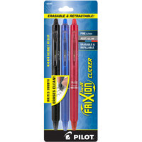 Pilot 31467 FriXion Assorted Ink with Assorted Barrel Color 0.7mm Erasable Retractable Gel Pen - 3/Pack