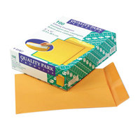 Quality Park 41467 #90 9 inch x 12 inch Brown Kraft Gummed Seal File Envelope - 100/Box