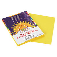 SunWorks 8403 9 inch x 12 inch Yellow Pack of 58# Construction Paper - 50/Sheets