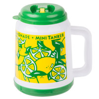 32 oz. Mini Tanker Plastic Lemonade Mug with Spout / Straw and Lid   - 24/Case