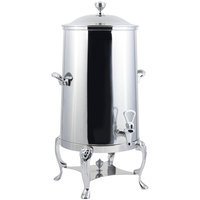 Bon Chef 48001-1C-E Lion 1.5 Gallon Insulated Stainless Steel Electric Coffee Chafer Urn with Chrome Trim