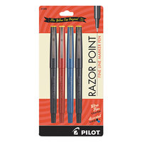 Pilot 11045 Razor Point Assorted Ink with Assorted Barrel Color 0.3mm Porous Marker Stick Pen - 4/Pack
