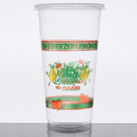 32 oz. Clear We Squeeze to Please Lemonade Cup with Lid   - 592/Case
