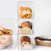 Cal-Mil 1204P-12 Three Section Clear Pullman Loaf Bread Box
