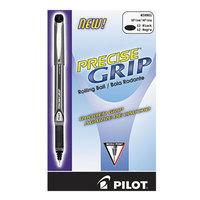 Pilot 28801 Precise Grip Black Ink with Black Barrel 0.5mm Roller Ball Stick Pen - 12/Pack