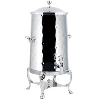Bon Chef 48001C-H Lion 1.5 Gallon Insulated Hammered Stainless Steel Coffee Chafer Urn with Chrome Trim