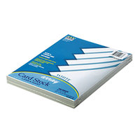 Pacon 101188 Array 8 1/2 inch x 11 inch White Pack of 65# Card Stock- 100 Sheets
