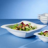 Villeroy & Boch 10-2525-3320 NewWave 123 oz. Square White Premium Porcelain Salad Bowl - 4/Case