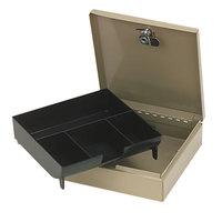 PM Company 04962 SecurIT 6 3/4 inch x 6 7/8 inch x 2 inch Pebble Beige Steel Cash Box