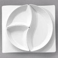 Villeroy & Boch 10-2525-2629 NewWave 12 5/8 inch x 11 3/8 inch Rectangular White Premium Porcelain Plate - 4/Case