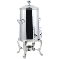 Bon Chef 41001C Aurora 2 Gallon Stainless Steel Coffee Chafer Urn with Chrome Trim