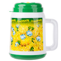 64 oz. The Tanker Plastic Lemonade Cold Cup with Spout, Straw and Lid - 12/Case