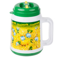 64 oz. Plastic Lemonade Tanker with Spout / Straw and Lid - 12/Case