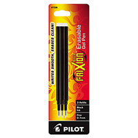 Pilot 77330 FriXion Black Ink Fine Point Erasable Retractable Roller Ball Gel Pen Refill   - 3/Pack