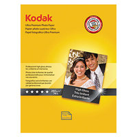 Kodak 8366353 8 1/2 inch x 11 inch Ultra Premium High-Gloss Pack of 10 mil Photo Paper - 25/Pack