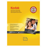 Kodak 8777757 4 inch x 6 inch Ultra Premium High-Gloss Pack of 10 mil Photo Paper - 20/Pack
