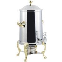 Bon Chef 47103 Renaissance 3.5 Gallon Stainless Steel Coffee Chafer Urn with Brass Trim