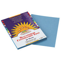 SunWorks 7603 9 inch x 12 inch Sky Blue Pack of 58# Construction Paper - 50/Sheets