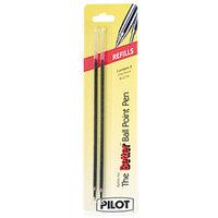 Pilot 77217 Red Ink Fine Point Ballpoint Stick Pen Refill - 2/Pack