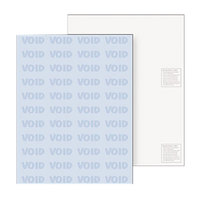 DocuGard 04541 8 1/2 inch x 11 inch Blue 6 Feature 24# Standard Medical Security Paper - 500 Sheets/Ream