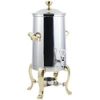Bon Chef 41001-1 Aurora 2 Gallon Stainless Steel Coffee Chafer Urn with Brass Trim