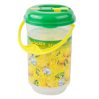 64 oz. Lemonade Bucket Jug with Lid and Handle - 36/Case