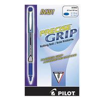 Pilot 28802 Precise Grip Blue Ink with Blue Barrel 0.5mm Roller Ball Stick Pen - 12/Pack