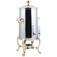 Bon Chef 41003 Aurora 3.5 Gallon Stainless Steel Coffee Chafer Urn with Brass Trim