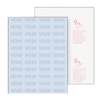 DocuGard 04545 8 1/2 inch x 11 inch Blue 7 Feature 24# Advanced Medical Security Paper - 500 Sheets/Ream