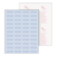 DocuGard 04543 8 1/2 inch x 11 inch Blue 10 Feature 24# Premier Medical Security Paper - 500 Sheets/Ream