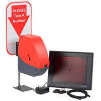 Turn-O-Matic 3818830 Take a Number System with Wireless Remotes and D900 Ticket Dispenser - Plug and Play