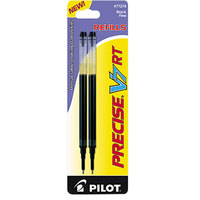 Pilot 77278 Precise V7 RT Black Ink Fine Point Rolling Ball Retractable Pen Refill - 2/Pack