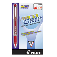 Pilot 28803 Precise Grip Red Ink with Red Barrel 0.5mm Roller Ball Stick Pen - 12/Pack