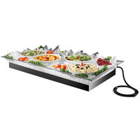 Cal-Mil 987-12 48 inch x 24 inch x 5 1/2 inch Ice Housing System with Clear Ice Pan, Drainage Hose, and LED Light