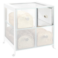 Cal-Mil 1586-74DRAWER Soho Clear Drawer with Silver Knob