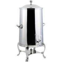 Bon Chef 40001-1CH-E Aurora 1.5 Gallon Insulated Stainless Steel Electric Coffee Chafer Urn with Brass Trim